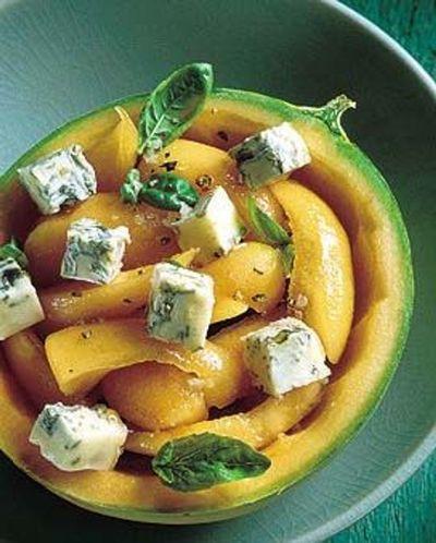 Melon au gorgonzola