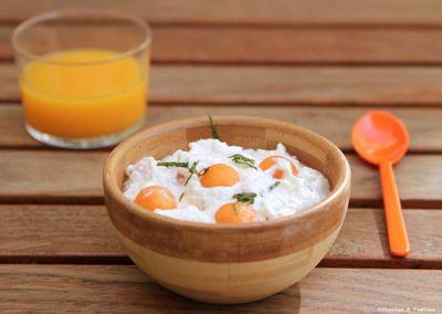 Salade de melon au fromage frais et à la menthe ciselée