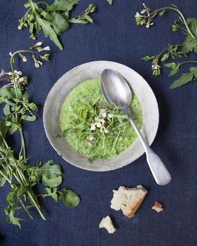 Green gaspacho concombre et roquette