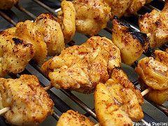 Chich taouk, brochettes de poulet aux épices (au barbecue)