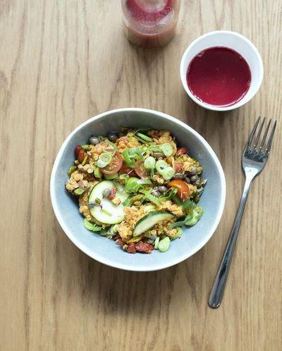 Salade punk aux lentilles corai