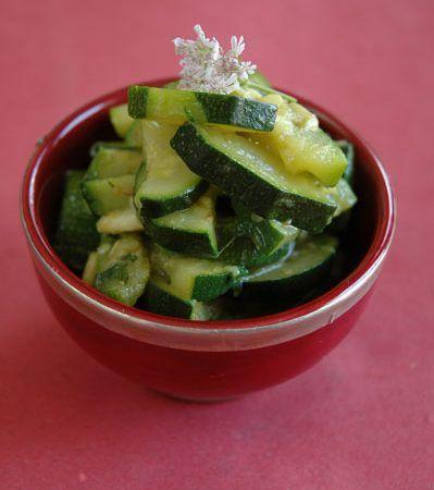 Salade de Courgettes Curcuma-Cumin-Coriandre