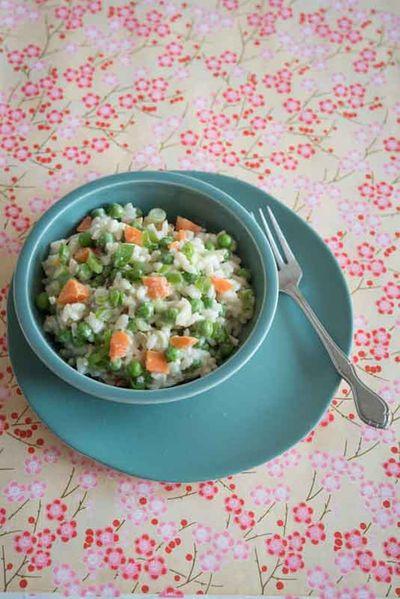 Risi bisi – Risotto aux petits pois et carottes