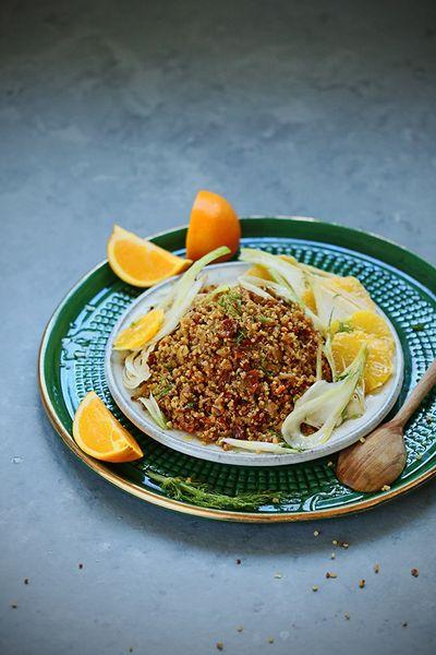Quinoa à l'orange et au fenouil