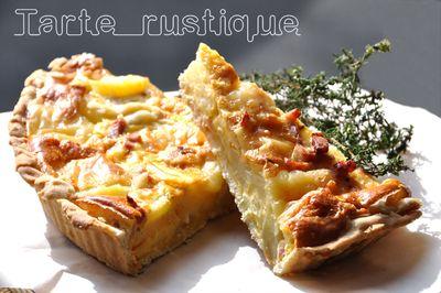 Tarte rustique aux pommes de terre et  Saint Nectaire fermier