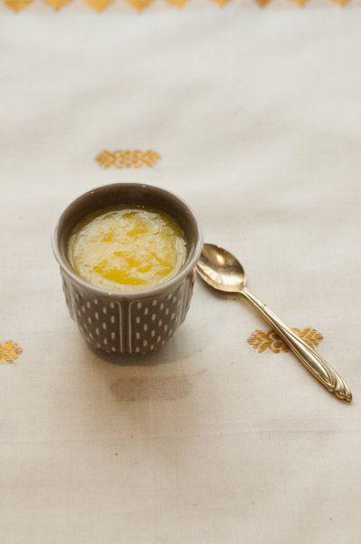 Panna Cotta au Chai et à la mangue