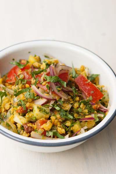 Salade de Lentilles Pondichery Concombre et Tomates