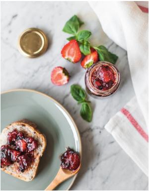Confiture fraise et basilic