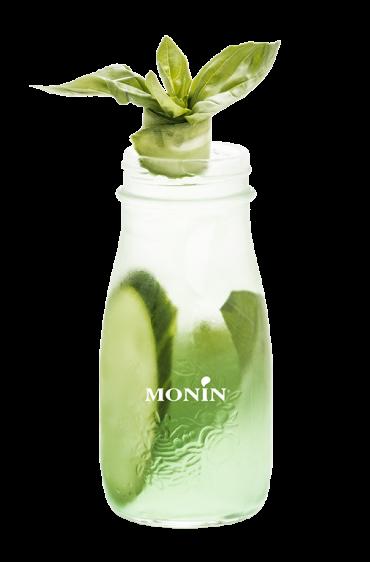 Soda Concombre Basilic, Monin (sans alcool)