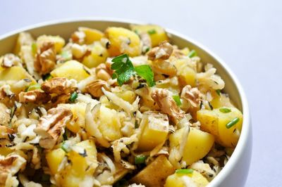 Salade de pommes de terre et radis noir