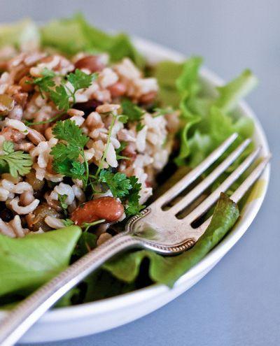 Riz et haricots en salade