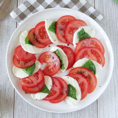 Tomates, mozza di Buffala