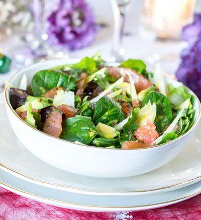 Salade fraîche, simple et légère pour les repas de fêtes