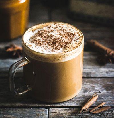Pumpkin spice latte (sans lactose)