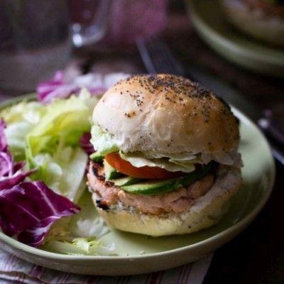 Burger au saumon frais