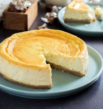 Cheesecake ricotta, spéculoos et caramel au beurre salé