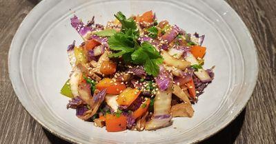 Wok de légumes et tofu au sésame