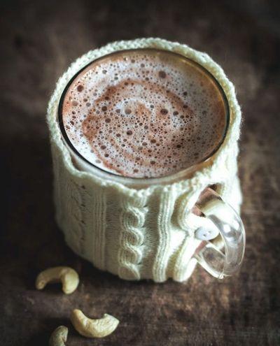 Chocolat chaud au lait de noix de cajou
