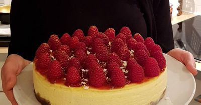 Cheesecake aux framboises (avec cuisson)