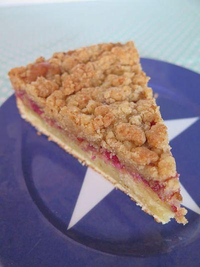 Gâteau crumble aux framboises (crumb-cake)