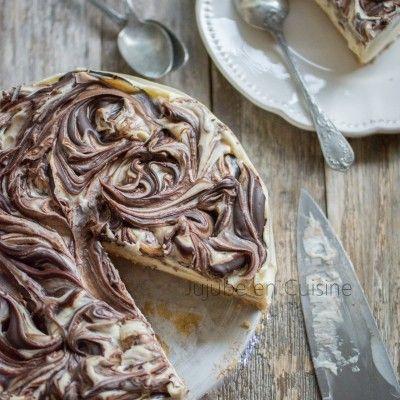 Cheesecake très crémeux aux deux chocolats