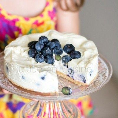 Cheesecake au chocolat blanc et aux myrtilles