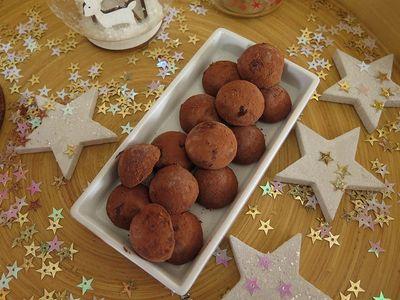 Truffes au chocolat et orange