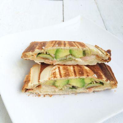 Croq sandwich au saumon